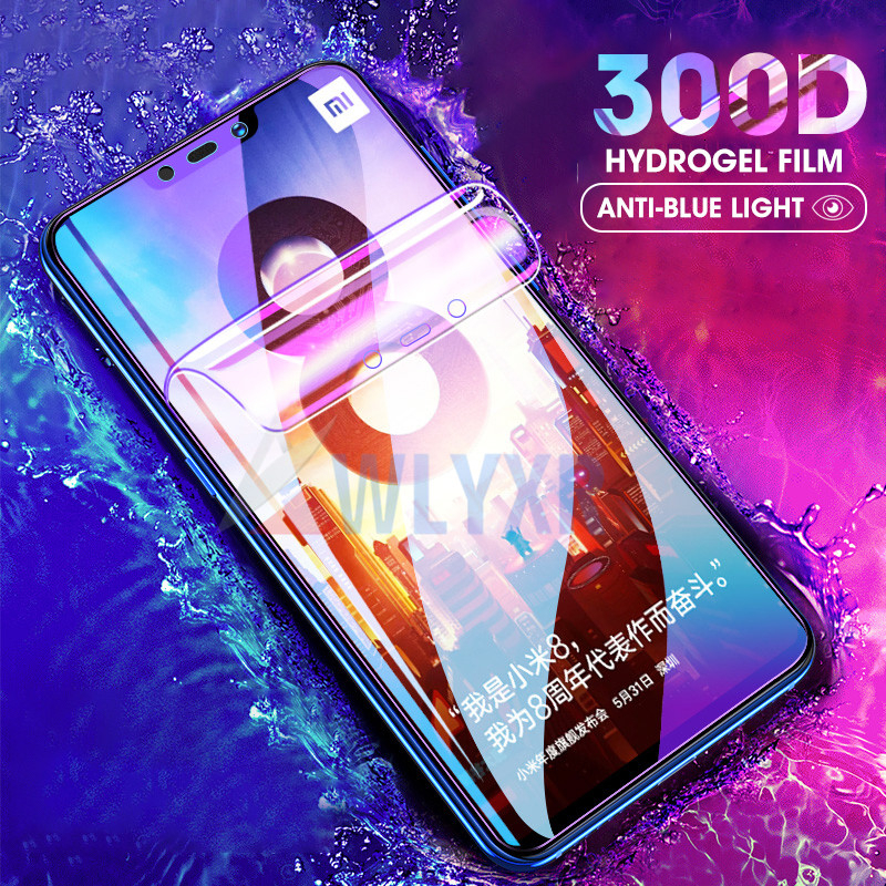 <font><b>300D</b></font> Anti-Blue Light Hydrogel Film For Xiaomi Redmi Note 9 8 7 6 K20 Pro 6A 7A 8A Protective Film For Xiaomi Mi 9T A3 Lite Cover image