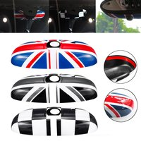 Car Rear Abs Red Union Jack Rearview Mirror Cover Decoration Accessories For BMW for MINI Cooper JCW S One+F54 F55 F56 F60