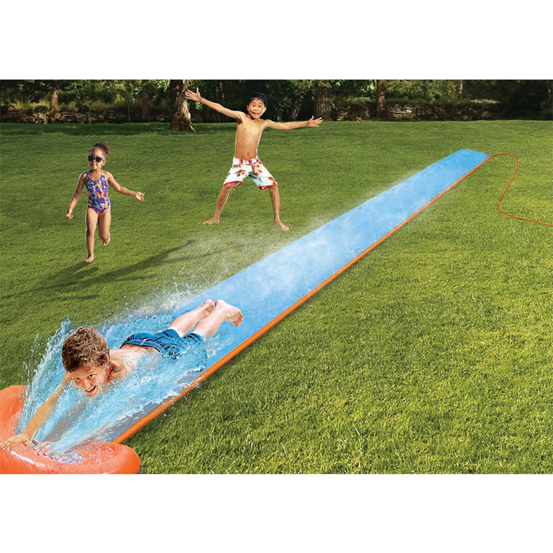 Inflatable Racer Water Slide Double Surf Rider N Slide Blast Through Splash Pool Kids Park Backyard Play Fun Outdoor Splash Slip