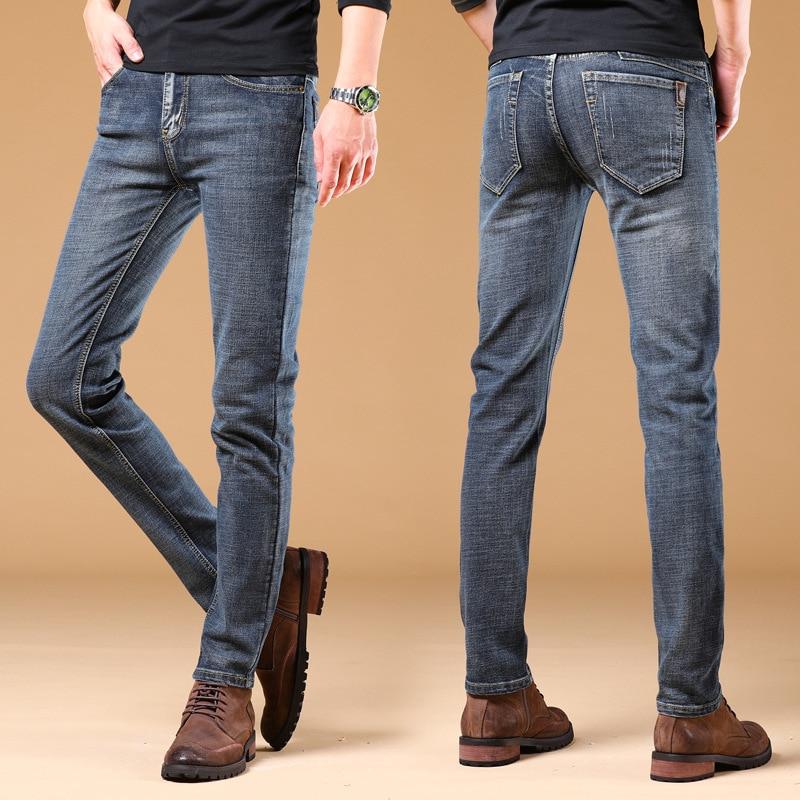 Black Jeans Men Summer Thin Section Korean-style Trend Straight-Cut Loose-Fit Casual Versatile Elasticity Slim Fit Pants Men's
