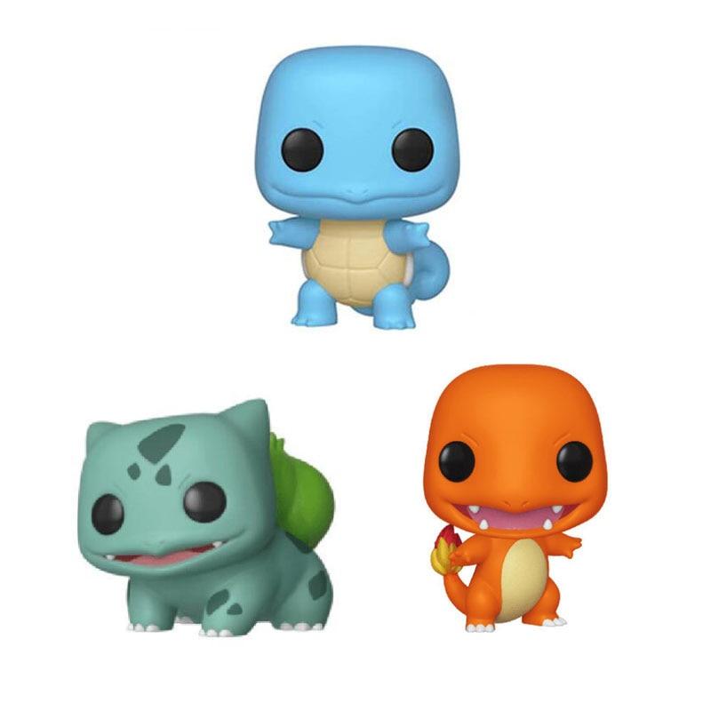Pocket Cute Bulbasaur Charmander Squirtle Vinyl Figure Collection Model Toys