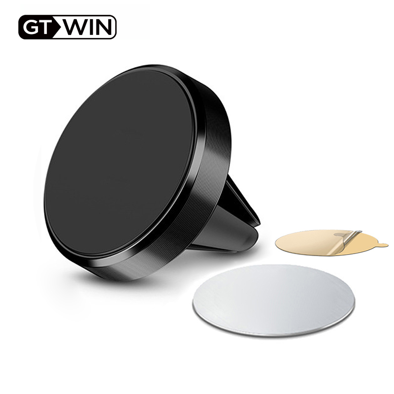 GTWIN Magnetic Car Phone Holder For iPhone Samsung Huawei Xiaomi Air Vent Mount in Car Metal Magnet Stand Mobile Phone Support(China)
