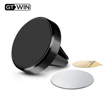 GTWIN magnetyczny uchwyt samochodowy na telefon iPhone Samsung Huawei Xiaomi Air Vent góra w samochodzie metalowy stojak na magnes wsparcie telefonu komórkowego tanie i dobre opinie Magnetyczne CN (pochodzenie) Uniwersalny Holder