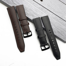 Bracelet de montre en cuir véritable, en Silicone, pour Samsung Galaxy Watch 42 46mm Gear S3 Sport, libération rapide 20mm 22mm, nouvelle collection