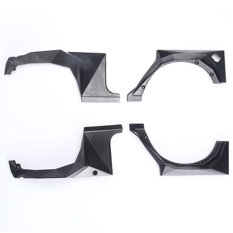 4pcs Abs Plastic Wheel Eyebrow Fender 324mm Wheelbase For 1/10 Rc Crawler Car Trx4 Axial Scx10 Jk Wrangler