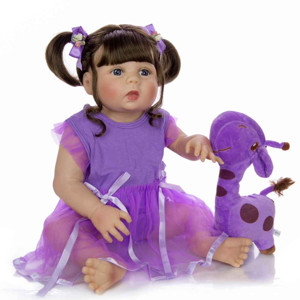 55cm Full Silicone bebe Reborn Baby Doll Toy 22inch Newborn Babies Alive girl Doll With Pacifier gift Bonecas Christmas Gift toy