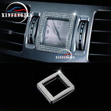 For Mercedes-Benz S E CLS Class W221 W212 C218 Gold Silvery Crystal Style Center Clock Frame Cover Trim