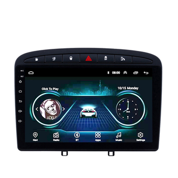 9 inch Android Car Multimedia Player for Peugeot 308 308SW 408 RCZ 2010-2016 stereo GPS navigation Support BT WIFI FM image