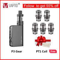 Gift 100W Vape Kit Vaptio P3 Gear electronic cigarette 3000mAh Starter kit with built in battery 2.0ml capacity 510 thread Tank
