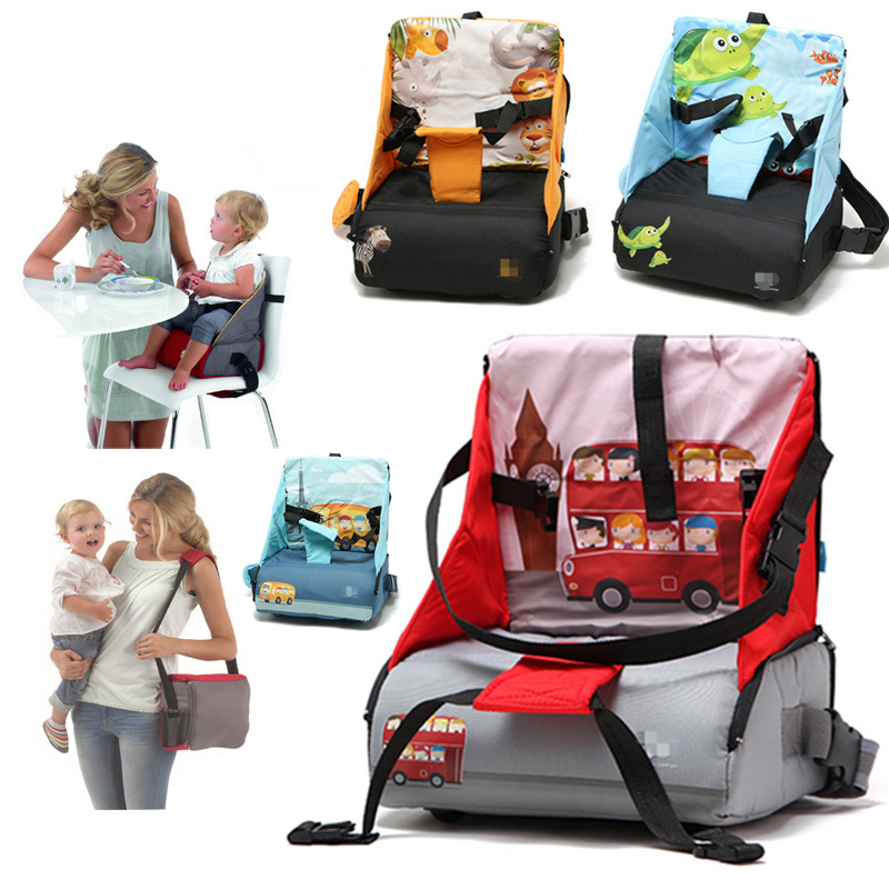 Baby Travel Diaper Bag Booster Seat Nappy Changing Backpack Highchair Maternity Bag Feeding Chair Thicken Cushion Nursing Care