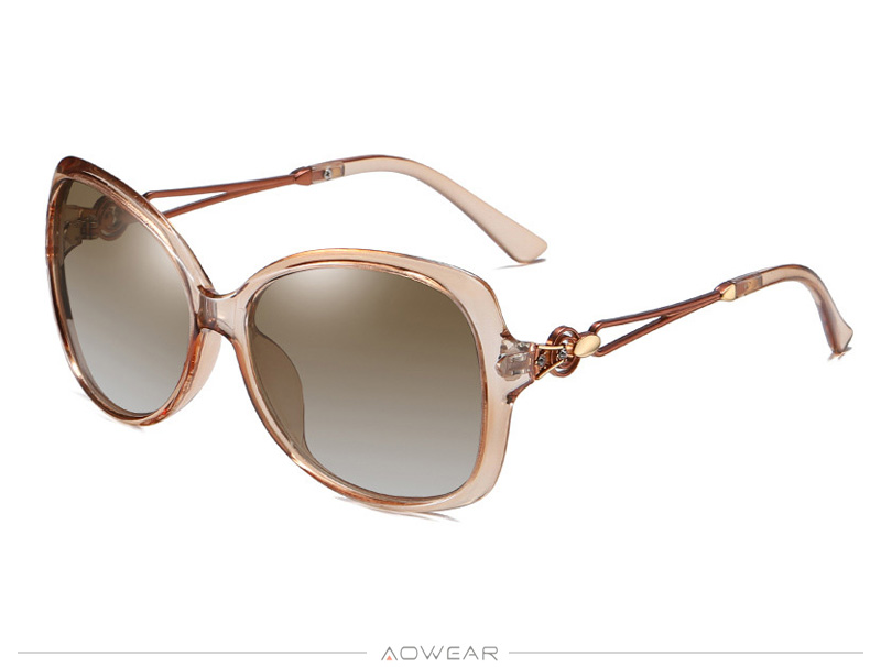 2020 Lady Oversized Gradient Eyewear Women Retro Womens Sun Shades Sunglasses Brand Female Glasses AOWEAR For Polarized Luxury