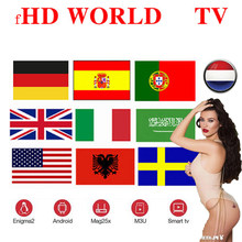 7500 World Global Iptv Europa Usa Uk Duitsland Italië Nordic Latin 3/6/12 Maand Voor M3U Macc Android Ssmart tv Geen Kanalen Inbegrepen(China)