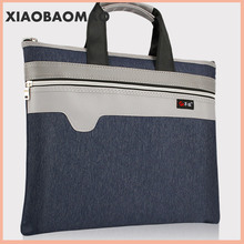 Zipper Briefcase Canvas A4 Handbag Business Bags Document Paper Storage Bag File Folder Office Supplies Stationery coloffice 2018 new impression a4 paper color dot folder four color business office folder data storage folder new filing product