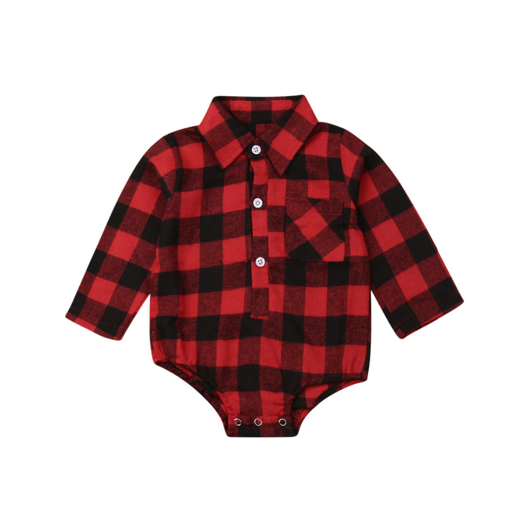 H09f554032ddb49b39d72cbcc4cb8000bW Pudcoco Baby Girls And Boys Unisex Clothes Christmas Plaid Rompers Newborn Baby 0-18 Monthes Fits One Piece Suit Cartoon Elk New