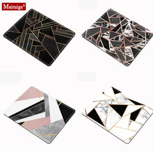 Gaming mouse pad 20x18cm shiny black and white marble geometric