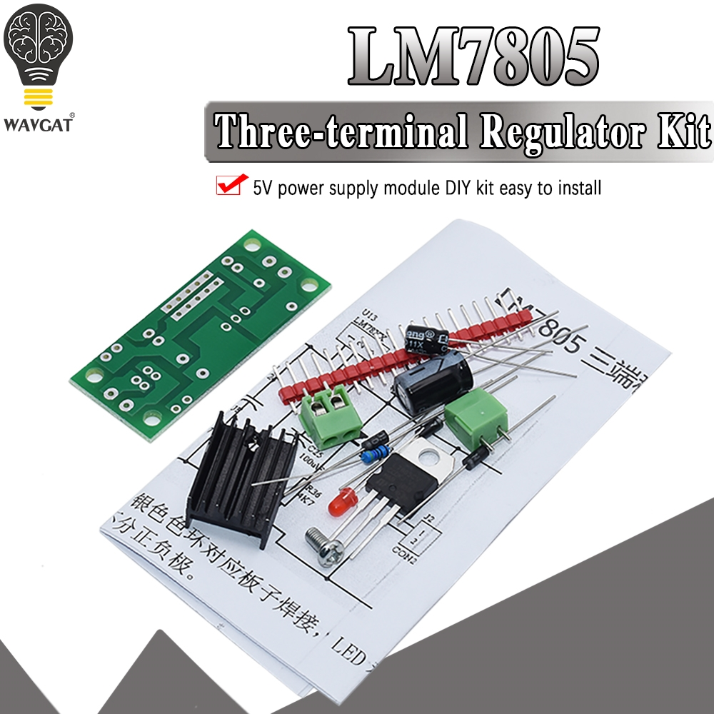 DIY KIT LM7805 L7805 DC/AC Three Terminal Voltage Regulator Power Supply Module 5V 6V 9V 12V Output Max 1.2A|Integrated Circuits|   - AliExpress