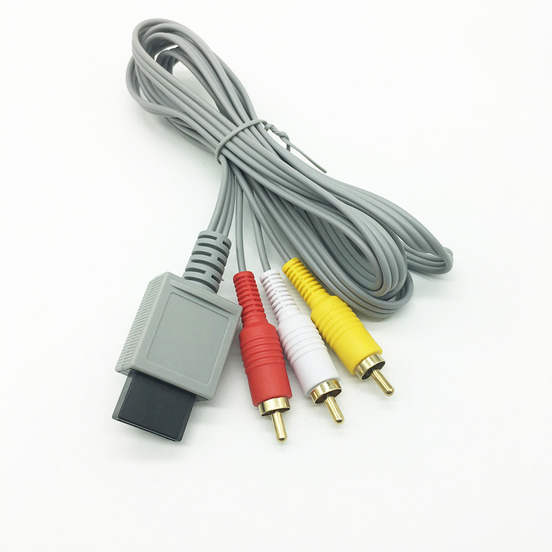 Manufacturers Direct Selling Nintendo Video Wii AV Cable 1.8 Greige Gold Plated Nintendo Game Console Wii AV Cable