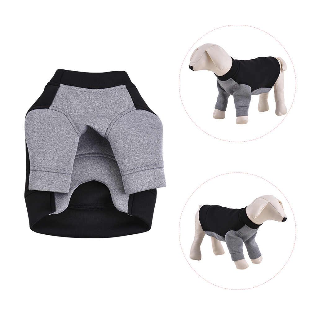 애완 동물 강아지 옷 프리미엄 통기성 까마귀 스웨터 양털 색상 차단 귀여운 강아지 의상 용품 부드러운 공간 면화 채택