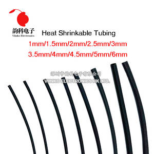 Tubing-Tube Wrap-Wire Sleeving Heatshrink Black 2mm 1mm 4mm 2:1 3mm 1-Meter/Lot