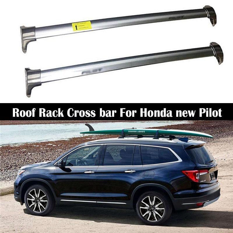 aluminum alloy roof rack for honda new pilot 2016 2020 oem style rails bar luggage carrier bars top cross bar rack rail boxes