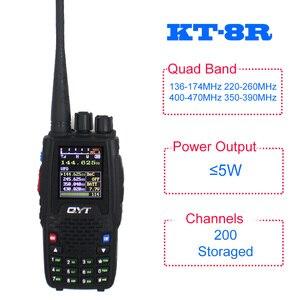 Image 4 - QYT Walkie Talkie KT 8R, 5W, 3200mAh, Quad Band, estación de Radio aficionado, intercomunicador KT8R, transceptor FM con pantalla a Color