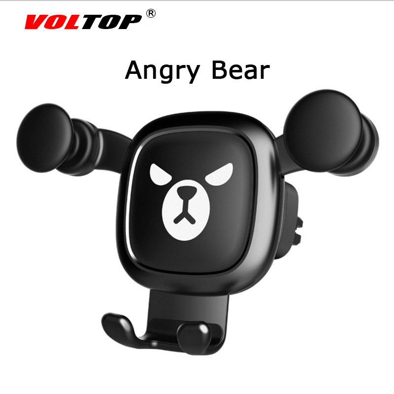 Image 4 - Bear Car Accessories Air Conditioner Outlet Gravity Phone Holder Ornament Car Interior Supplies Mobile Phone Support-in Ornaments from Automobiles & Motorcycles