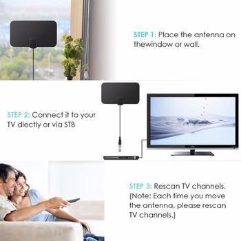 980 Miles HD TV Antennas Indoor Mini Digital Antenna Compatiblewith720p,1080i,1080p/ATSC 6