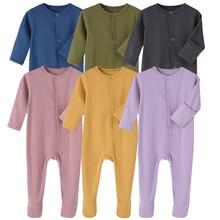 Minizone Baby Overalls Cotton Romper Boy Long Sleeve Gentleman Pyjama with Bowtie 0-12 Month