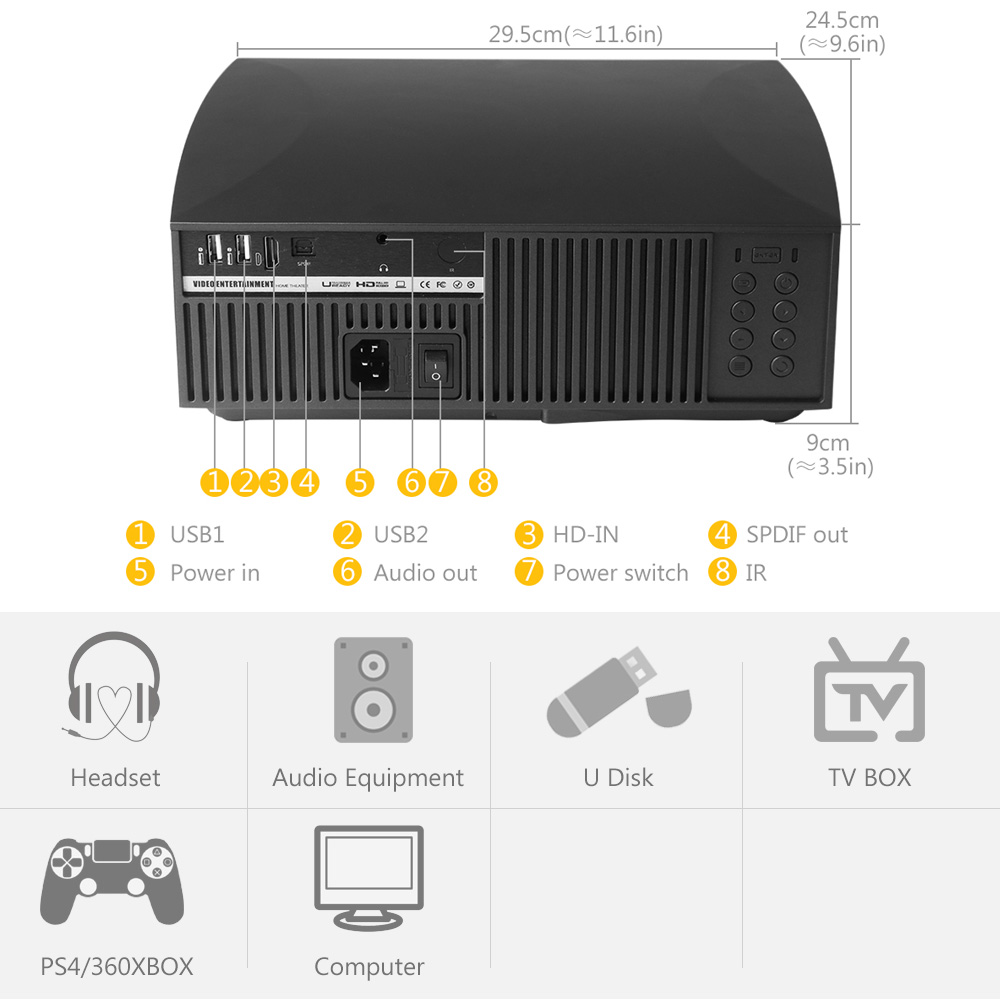 Image 3 - ALSTON F30 F30UP Full HD 1080P Projector 4K 6500 Lumens Cinema Proyector Beamer Android WiFi Bluetooth hdmi VGA AV USB with gift-in LCD Projectors from Consumer Electronics