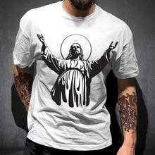 De algodón de los hombres T camisa Jesús Cristo Jesús me salvó la vida pertenecen a Jesús de algodón de manga corta Cristo Religión Cristiana fe Tops