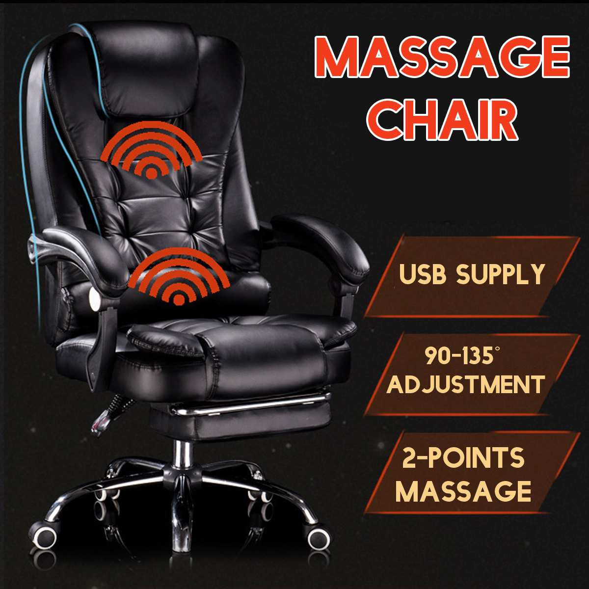 High Quality Office Chairs Massage Chair Ergonomic Leather Computer Gaming Chair Internet Cafe Seat Household Reclining Chair
