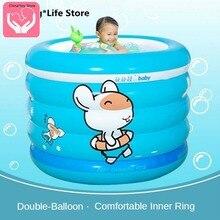 Children's Inflatable Pool Home Indoor Bath Barrel Heightened Bathtub Swimming Pool Portable