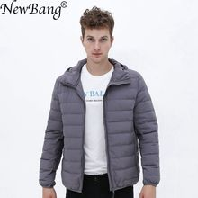 Matt Fabric Ultra Light Down Jacket Men Hooded Winter Mens Down Jacket Windbreaker Feather Jacket Man Lightweight Portable Coat