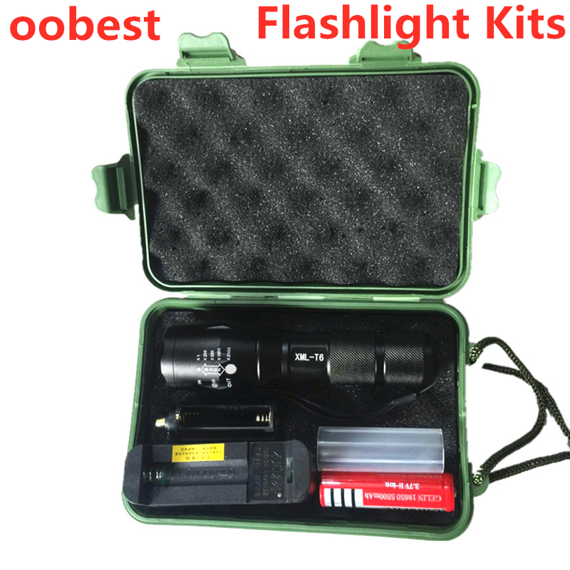 T6 Ultra Bright Glare Charging LED Flashlight 5 Switch Modes Waterproof Telescopic Zoom L2 Camping Torch Tactical LED Flashlight