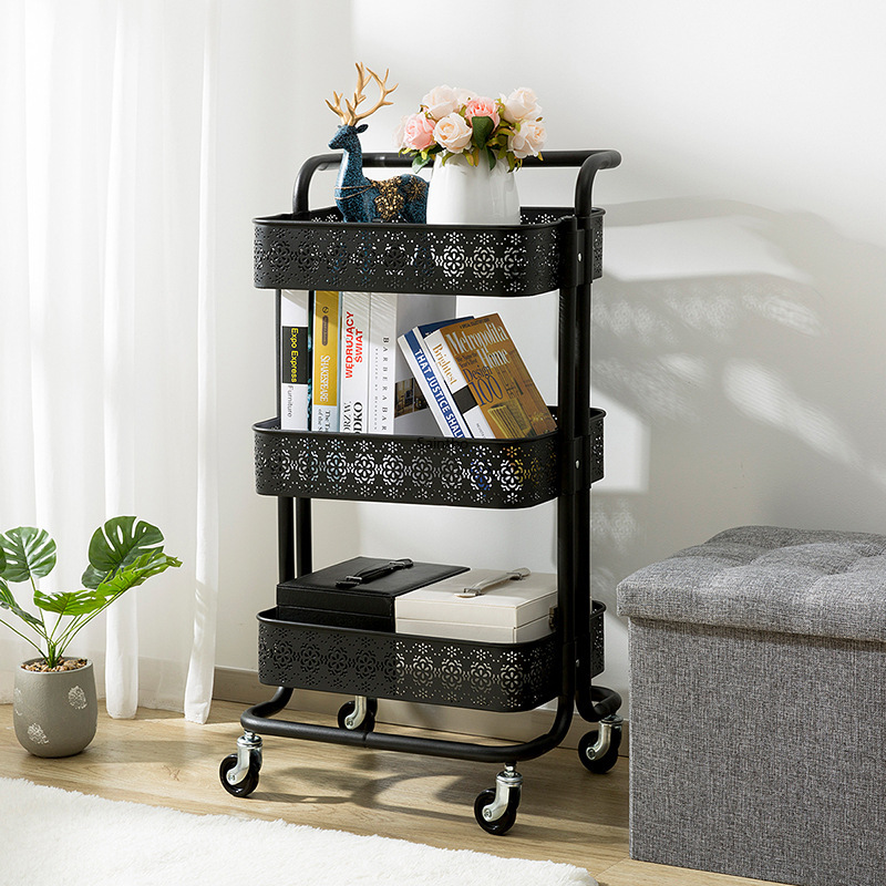 Per la casa in metallo piccolo carrello retro vuoto modello rack di stoccaggio soggiorno mensola della cucina organizzatore camera organizzatore - 2