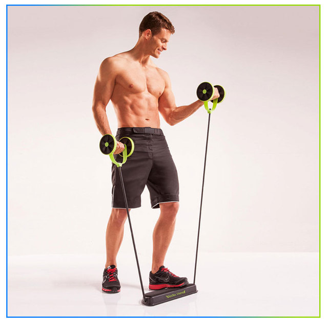 AB Wheels Roller Stretch Elastic Abdominal Resistance Pull Rope Tool  Abdominal Fitness Equipment 3