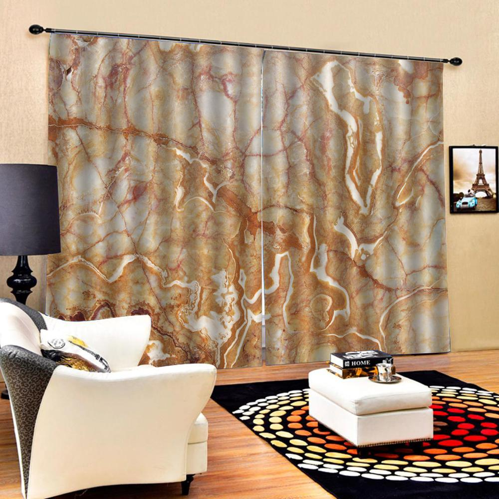 marble peony curtains Luxury Blackout 3D Window Curtains For Living Room Bedroom Customized size Decoration curtains