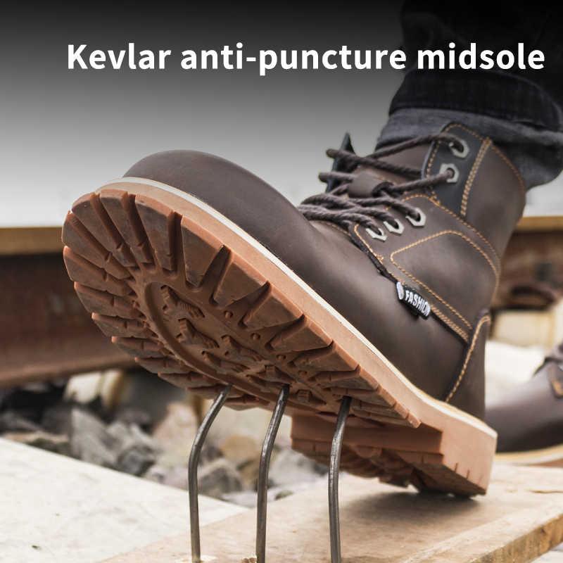 Nam Giày Bốt Martin Tuyết Mùa Đông Thép Không Gỉ Mũi Giày Công Sở Với Punctrue Chống Cao Ấm Mắt Cá Chân Giày Cho Nữ