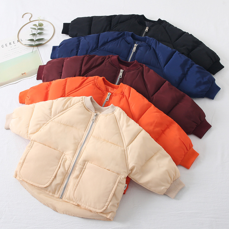 Coats Clothing Outerwear Down Baby-Boys-Girls Boys Winter Kids Cotton Casual for Warm