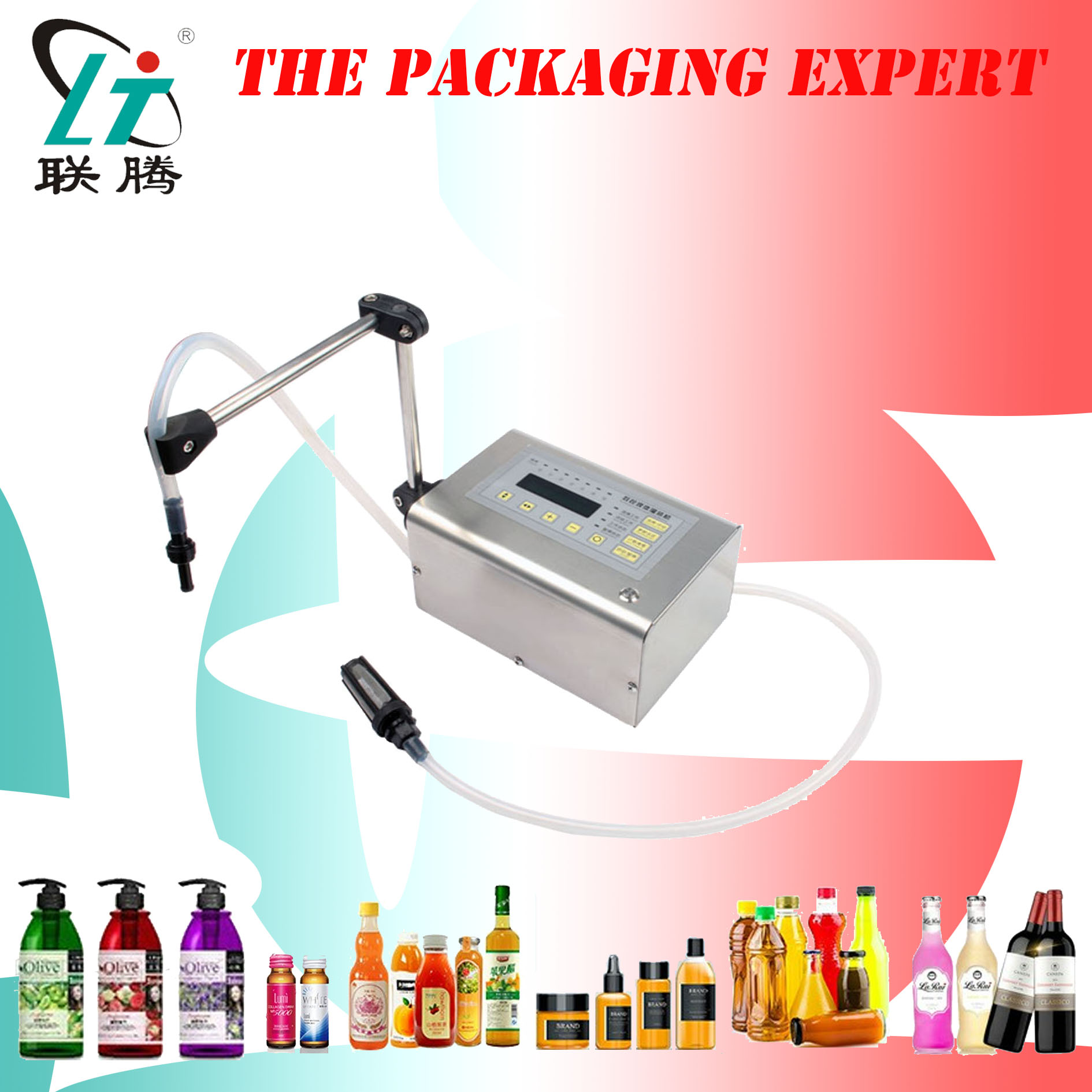 Liquid Filling Machine Digital Control Drink Filler Mini Electric Lcd Display Water Oil Perfume Milk Oil Bottle Free Shipping