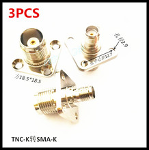 3PCS New TNC-K Transfer SMA-K Joint KKF Mother to Connector Frank Square Plate Fixing