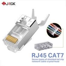 Rj45 커넥터 네트워크 케이블 커넥터 10/50/100pcs cat6a cat7 rj45 플러그 차폐 ftp 8p8c 네트워크 크림프 커넥터