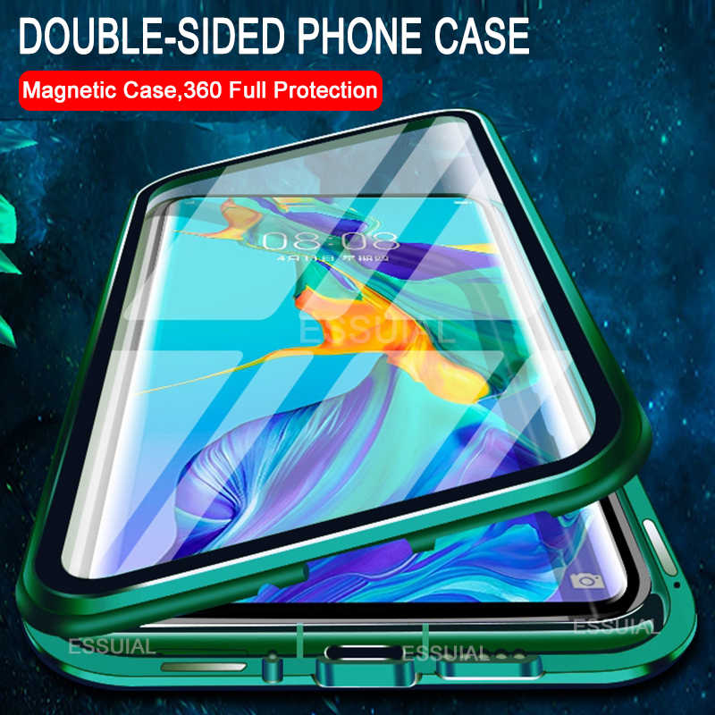 360 Magnetic Adsorption Metal Case For Huawei P30 P40 P20 Mate 30 20 Honor 20 Pro 30 10 Lite 9X 8X P Smart 2019 Nova 5T 7 Cover