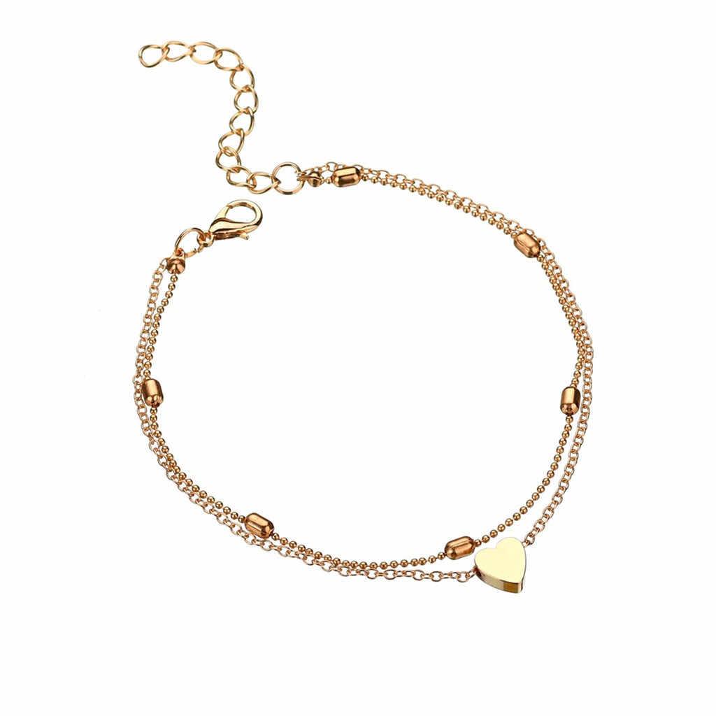 Halhal kadınlar için bohemian halhal ayak bileği bilezik altın paslanmaz çelik halhal hediyeler kadınlar için boho tobillera accesorios mujer