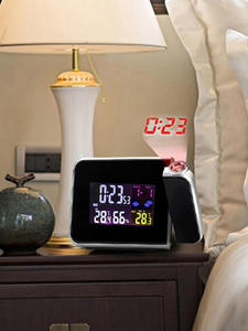 Alarm-Clock Temperature-Thermometer Wake-Up-Projector-Clock Weather-Station Humidity