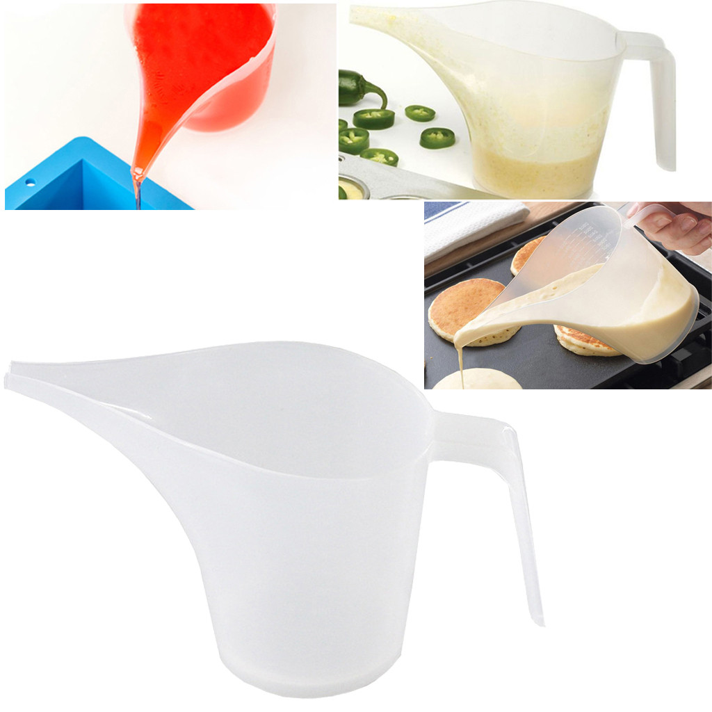 1000ml Tip Mouth Plastic Measuring Jug Cup Graduated Surface Cooking Kitchen Bakery Bakeware Liquid Container Cake Baking Tools