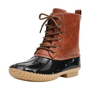 Image 4 - Mắt Cá Chân Giày Nữ Giày Nữ Mùa Đông Giày Boot Bling Đầm Nữ PVC Giày Đi Mưa Thời Trang Botines Mujer 2020