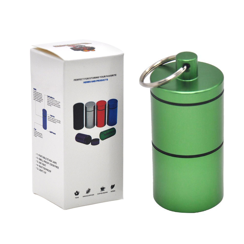 """HORNET Stash Jar-герметичный, устойчивый к запаху алюминиевый контейнер для специй с 2 слоями, чехол для табака """"вы можете собрать его самостоятельно"""" - Цвет: YH033-HP-Lv"""