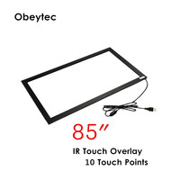85 inch touch screen kit usb touch sensor 10 touch points without glass working under sun lights