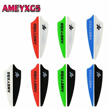 36pcs 3 4 Rubber Vanes Arrow Feather Shield Shape Fletching Arrow Fletches DIY Tools For Hunting Shooting Archery Accessories 50 100pcs 1 75inch hunting arrow feather drop shape fletching high quality 7 color rubber feather vanes shooting accessories